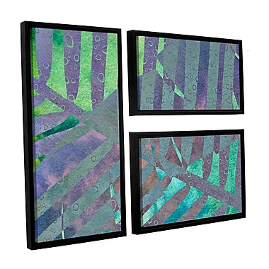 ArtWall 'Leaf Shades III' by Cora Niele 3 Piece Framed Graphic Art on Wrapped Canvas Set