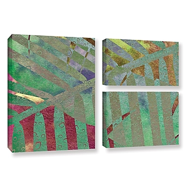 ArtWall 'Leaf Shades II' by Cora Niele 3 Piece Graphic Art on Wrapped Canvas Set