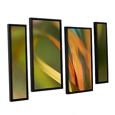 ArtWall 'Autumn Grass' by Cora Niele 4 Piece Framed Photographic Print on Wrapped Canvas Set