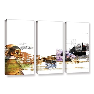 ArtWall 'Stages' by Greg Simanson 3 Piece Graphic Art on Wrapped Canvas Set; 24'' H x 36'' W x 2'' D