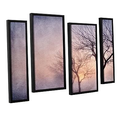 ArtWall 'Early Morning' by Cora Niele 4 Piece Framed Photographic Print on Wrapped Canvas Set