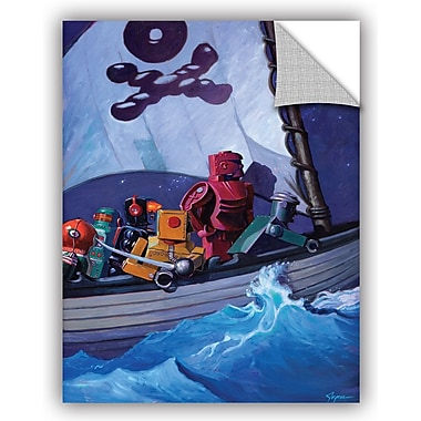 ArtWall 'Robpirates' by Eric Joyner Graphic Art; 32'' H x 24'' W x 0.1'' D