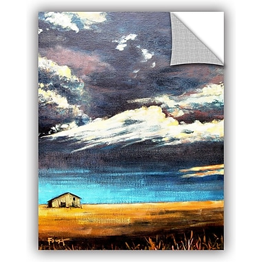 ArtWall 'Lone Barn' by Gene Foust Painting Print on Canvas; 24'' H x 18'' W x 0.1'' D