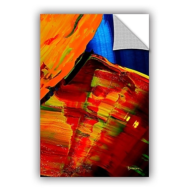 ArtWall 'Going w/ The Flow' by Byron May Painting Print on Canvas; 36'' H x 24'' W x 0.1'' D