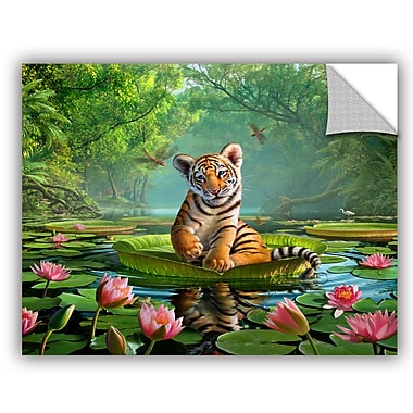 ArtWall 'Tiger Lily' by Jerry Lofaro Photographic Print; 14'' H x 18'' W x 0.1'' D