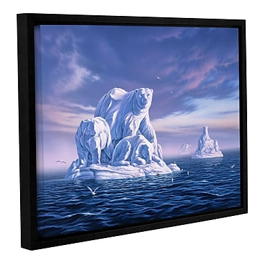 ArtWall 'Iceberg' by Jerry Lofaro Framed Graphic Art on Wrapped Canvas; 24'' H x 32'' W
