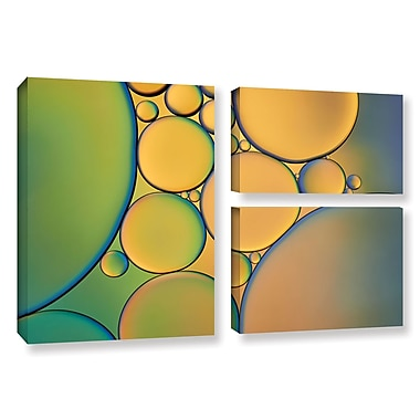 ArtWall 'Orange Green' by Cora Niele 3 Piece Photographic Print on Wrapped Canvas Set