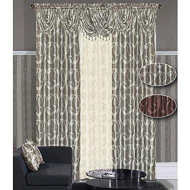 Dainty Home Memphis Single Curtain Panel; Silver