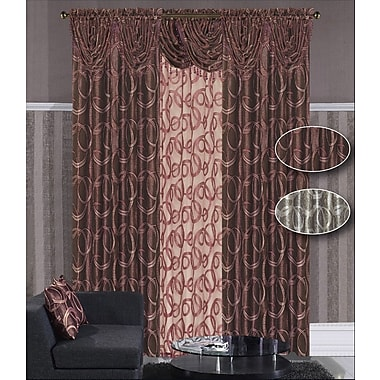 Dainty Home Memphis Single Curtain Panel; Purple