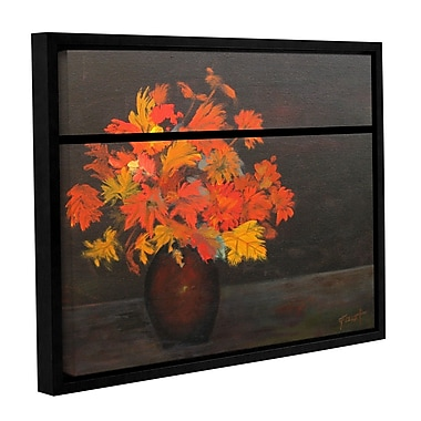 ArtWall 'Flower' by Gene Foust Framed Painting Print on Wrapped Canvas; 24'' H x 32'' W