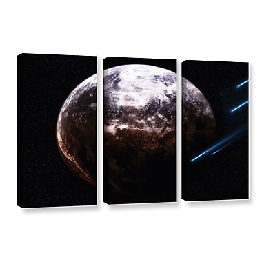 ArtWall 'Atlas Under Siege' by Dragos Dumitrascu 3 Piece Photographic Print on Wrapped Canvas