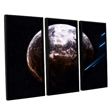 ArtWall 'Atlas Under Siege' by Dragos Dumitrascu 3 Piece Framed Photographic Print on Canvas Set