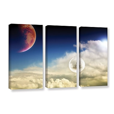 ArtWall 'Atlantis' by Dragos Dumitrascu 3 Piece Photographic Print on Wrapped Canvas Set