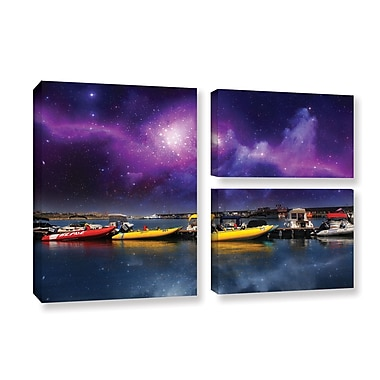 ArtWall 'Gateway' by Dragos Dumitrascu 3 Piece Photographic Print on Wrapped Canvas Set