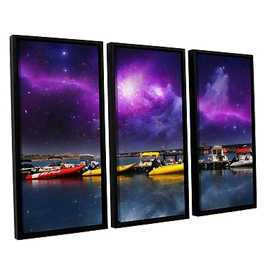 ArtWall 'Gateway' by Dragos Dumitrascu 3 Piece Framed Photographic Print on Canvas Set