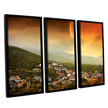 ArtWall 'Dawn' by Dragos Dumitrascu 3 Piece Framed Photographic Print on Canvas Set