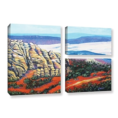 ArtWall 'Rocky Mountain Living' by Gene Foust 3 Piece Painting Print on Wrapped Canvas Set