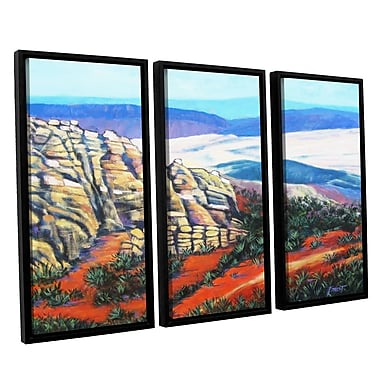 ArtWall 'Rocky Mountain Living' by Gene Foust 3 Piece Framed Painting Print on Canvas Set