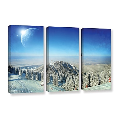 ArtWall 'Between Worlds V1' by Dragos Dumitrascu 3 Piece Photographic Print on Wrapped Canvas Set