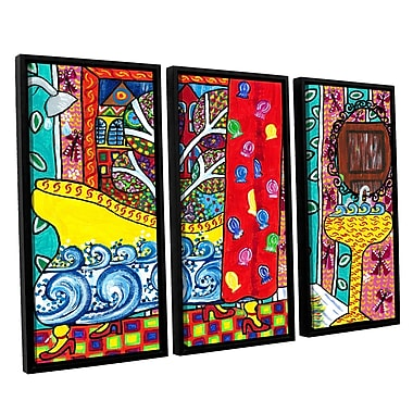 ArtWall 'Reflections' by Debra Purcell 3 Piece Framed Painting Print on Canvas Set