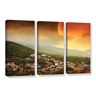 ArtWall 'Dawn' by Dragos Dumitrascu 3 Piece Photographic Print on Wrapped Canvas Set