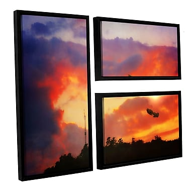 ArtWall 'Eve of War' by Dragos Dumitrascu 3 Piece Framed Photographic Print on Canvas Set