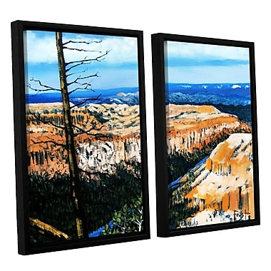 ArtWall 'Mountain Tops Sky' by Gene Foust 2 Piece Framed Painting Print on Wrapped Canvas Set