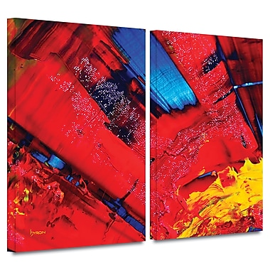 ArtWall 'Passionate Explosion' by Byron May 2 Piece Graphic Art on Wrapped Canvas Set