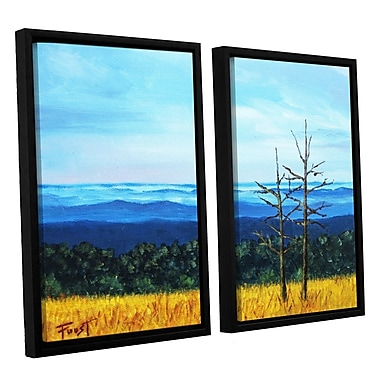 ArtWall 'Serene Mountain Tops' by Gene Foust 2 Piece Framed Painting Print on Wrapped Canvas Set