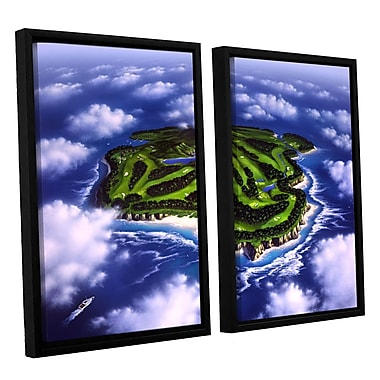 ArtWall 'Paradise Island' by Jerry Lofaro 2 Piece Framed Graphic Art on Wrapped Canvas Set