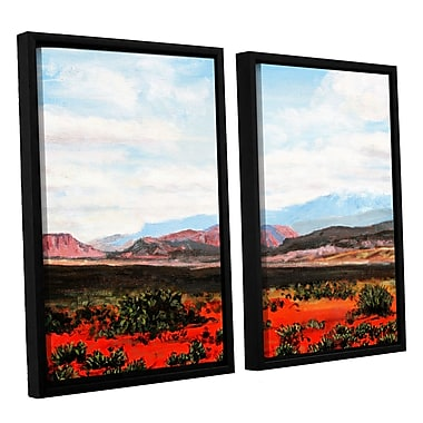 ArtWall 'Joyride' by Gene Foust 2 Piece Framed Painting Print on Wrapped Canvas Set