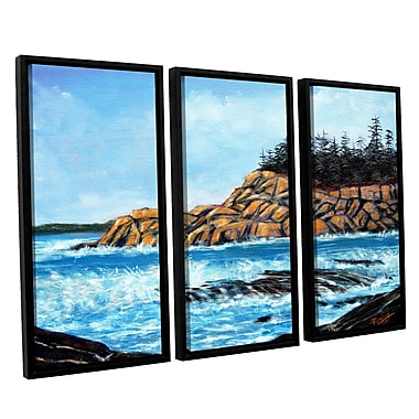 ArtWall 'Roll Tide' by Gene Foust 3 Piece Framed Painting Print on Wrapped Canvas Set