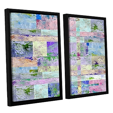 ArtWall 'Abstract I' by Greg Simanson 2 Piece Framed Graphic Art on Wrapped Canvas Set
