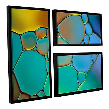 ArtWall 'Connected II' by Cora Niele 3 Piece Framed Graphic Art on Wrapped Canvas Set