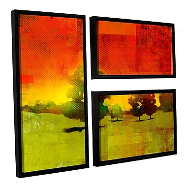 ArtWall 'Tree Study' by Greg Simanson 3 Piece Framed Painting Print on Wrapped Canvas Set