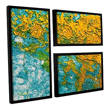 ArtWall 'Summer Breeze' by Byron May 3 Piece Framed Graphic Art on Wrapped Canvas Set