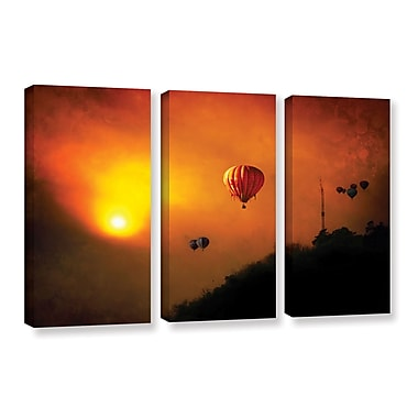 ArtWall 'Sunset Expedition' by Dragos Dumitrascu 3 Piece Photographic Print on Wrapped Canvas Set