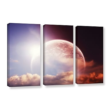 'Light Over Darkness-Russet' by Dragos Dumitrascu 3 Piece Photographic Print on Wrapped Canvas Set