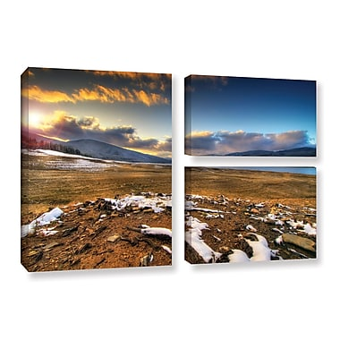 ArtWall 'The Winter Sun' by Dragos Dumitrascu 3 Piece Photographic Print on Wrapped Canvas Set
