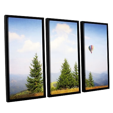 ArtWall 'Up High' by Dragos Dumitrascu 3 Piece Framed Photographic Print on Canvas Set
