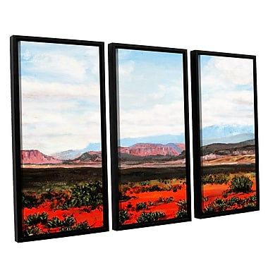 ArtWall 'Joyride' by Gene Foust 3 Piece Framed Painting Print on Wrapped Canvas Set