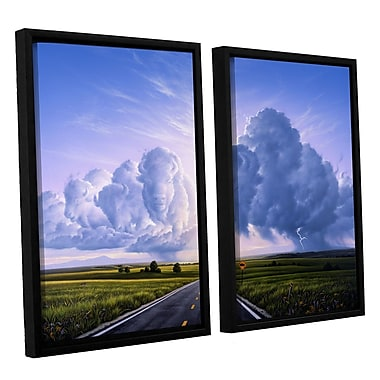 ArtWall 'Buffalo Crossing' by Jerry Lofaro 2 Piece Framed Graphic Art on Wrapped Canvas Set