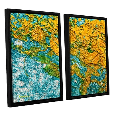 ArtWall 'Summer Breeze' by Byron May 2 Piece Framed Graphic Art on Wrapped Canvas Set