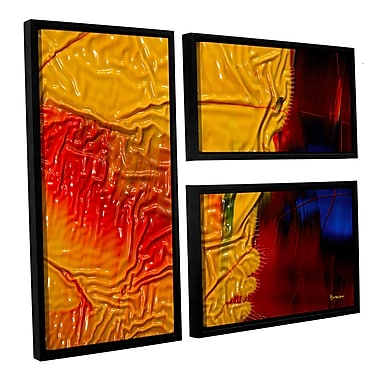 ArtWall 'The Approaching Storm' by Byron May 3 Piece Framed Graphic Art on Wrapped Canvas Set