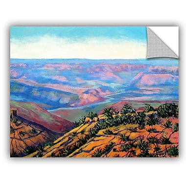 ArtWall 'Valley View' by Gene Foust Painting Print on Canvas; 14'' H x 18'' W x 0.1'' D
