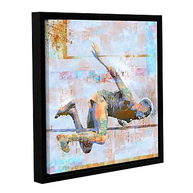 ArtWall 'Jump' by Greg Simanson Framed Graphic Art on Wrapped Canvas; 14'' H x 14'' W