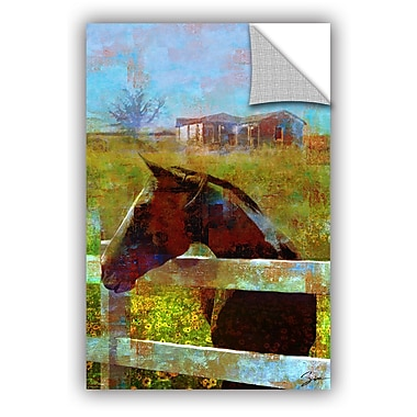 ArtWall 'Horse Field' by Greg Simanson Painting Print; 48'' H x 32'' W x 0.1'' D