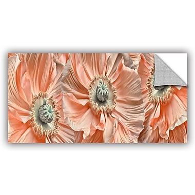 ArtWall 'Poppyscape' by Cora Niele Photographic Art on Canvas; 18'' H x 36'' W x 0.1'' D