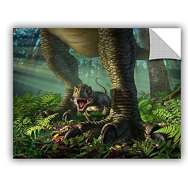 ArtWall 'Wee Rex' by Jerry Lofaro Graphic Art; 18'' H x 24'' W x 0.1'' D