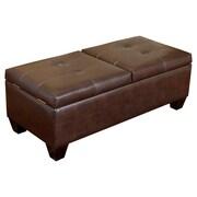 Home Loft Concepts Salas Leather Storage Ottoman